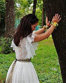 Šaty - vílovské,krajkové svadobné šaty v maslovej farbe - 6734833_