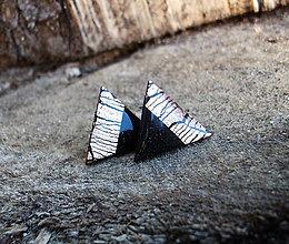 Náušnice - Trojuholníky 20 mm MINIMAL (bronz) - 6735407_