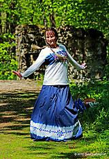 Sukne - Sukňa batikovaná, maľovaná, folk ČARDÁŠ - 6733681_