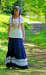 Sukne - Sukňa batikovaná, maľovaná, folk ČARDÁŠ - 6733683_