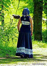 Sukne - Sukňa batikovaná, maľovaná, folk ČARDÁŠ - 6733685_