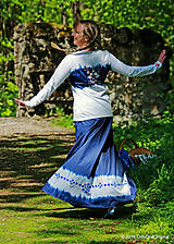 Sukne - Sukňa batikovaná, maľovaná, folk ČARDÁŠ - 6733698_