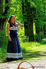 Sukne - Sukňa batikovaná, maľovaná, folk ČARDÁŠ - 6733699_
