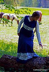 Sukne - Sukňa batikovaná, maľovaná, folk ČARDÁŠ - 6733707_