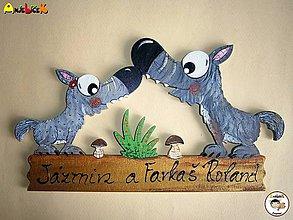 Tabuľky - Menovka - vlci - 6733456_