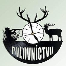 Hodiny - Hodiny na stenu s motívom poľovníctva - 6733899_