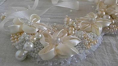 Náhrdelníky - Náhrdelník Bianco in crema - 6733188_