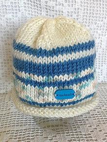 Detské čiapky - Čiapka Neonato prúžok - 6733372_