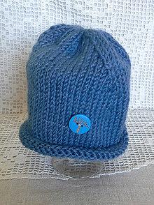 Detské čiapky - Čiapka Neonato modrá - 6733381_