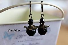 Náušnice - Lady in Black... - 6735085_