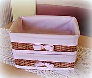 Košíky - Košík hnedý odkladáčik - do ružova - 6733299_