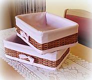 Košíky - Košík hnedý odkladáčik - do ružova - 6733310_