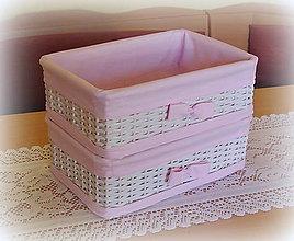 Košíky - Košík odkladáčik do ružova - 6733275_