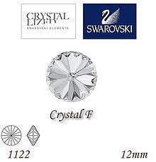 Korálky - SWAROVSKI® ELEMENTS 1122 Rivoli - Crystal F, 12mm, bal.1ks - 6733826_