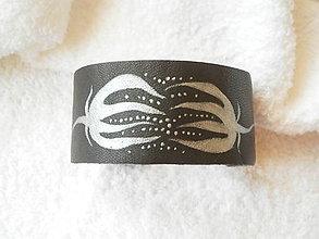 Náramky - Náramok kožený, opelenie - 6733286_