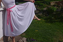 Biela šifonová sukňa