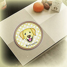Pomôcky - Psia podšálka bodkovaná - Zlatý retriever - 6734029_