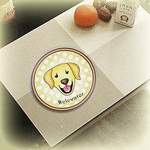 Pomôcky - Psia podšálka bodkovaná (Zlatý retriever) - 6734029_