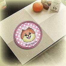 Pomôcky - Psia podšálka bodkovaná (Špic) - 6734030_