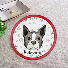 Pomôcky - Psia podšálka packy (Bostonský teriér) - 6735831_