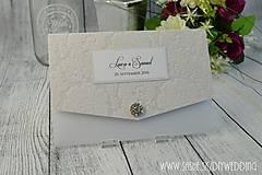 Papiernictvo - Svadobné oznámenie Josephine - 6737828_