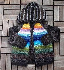 Detské oblečenie - Svetrík s krajinkou - 6737418_