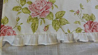 Úžitkový textil - Záves ružičkový - 6737825_