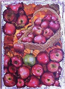 Obrázky - Jablká v košíku - obraz - 6736518_