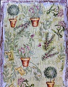 Obrázky - Záhradka v kvetináči - rormarín - 6736608_