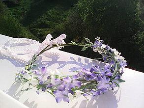 """Ozdoby do vlasov - Kvetinový venček do vlasov """"...pre Tvoje modré oči..."""" - 6736289_"""