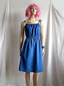 Šaty - Tielko-šaty prispôsobivé modré - 6736848_