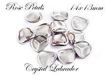 Korálky - Rose Petals 00030/27001 Crystal Labrador 14x13mm, bal.10ks - 6737506_