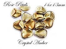 Korálky - Rose Petals 00030/26441 Crystal Amber 14x13mm, bal.10ks - 6737550_