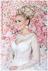 Náušnice - Náušnice svadobné s bielymi perlami Swarovski, striebro Ag - 6737608_