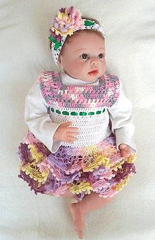 Detské oblečenie - Volánové šatôčky s čelenkou - 6739560_