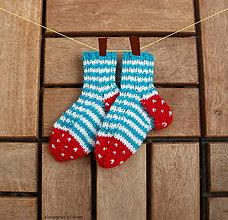 Topánočky - Detské ponožky malilinké jahodové - 6739620_