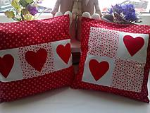 Úžitkový textil - červené vankúšiky - 6738495_