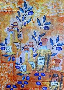 Obrázky - Olivový olej s olivami - 6738586_