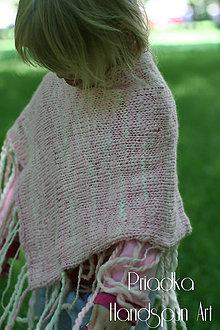 Detské oblečenie - Svetrík-pončo z ručne pradenej merino vlny - indiánske - 6739355_