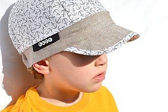Detské čiapky - Šiltovka s menom  - Kotvy - 6738460_