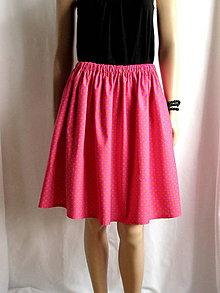 Sukne - Ružová suknička s oranžovými bodkami - 6739041_