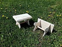 - Dekoratívny stolček - šamlík - 6740239_