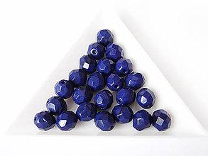 Korálky - České sklenené brúsené korálky 8mm Modrá, bal.1ks - 6740539_