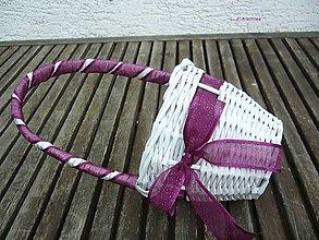Dekorácie - košíček pre družičku (fialový) - 6743707_