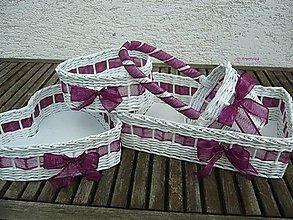Dekorácie - Svadobné košíčky - väčšie sady (fialková) - 6743745_