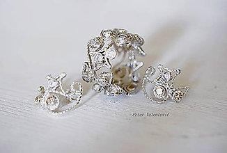 Sady šperkov - Hviezdny pár - strieborná súprava - 6742065_