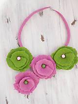 Náhrdelníky - Jarný plstený náhrdelník - 6744281_