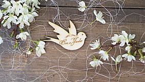 - Drevená magnetka pre svadobčanov  - 6744626_