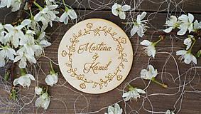 - Svadobné magnetky - dary pre svadobčanov - 6744627_