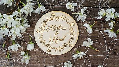 Darčeky pre svadobčanov - Svadobné magnetky - dary pre svadobčanov - 6744627_